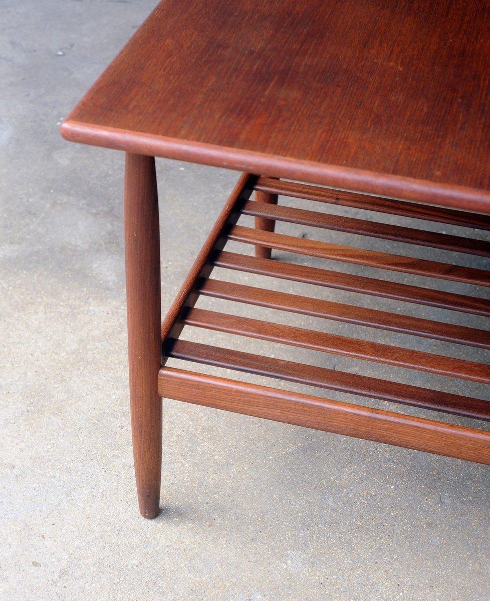 d nischer mid century teak beistelltisch mit ablage bei pamono kaufen. Black Bedroom Furniture Sets. Home Design Ideas