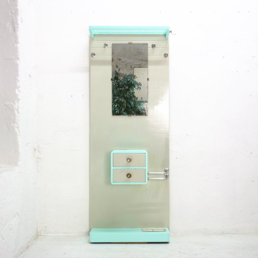 Garderobe mit spiegel schubladen 1950er bei pamono kaufen for Spiegel laden berlin