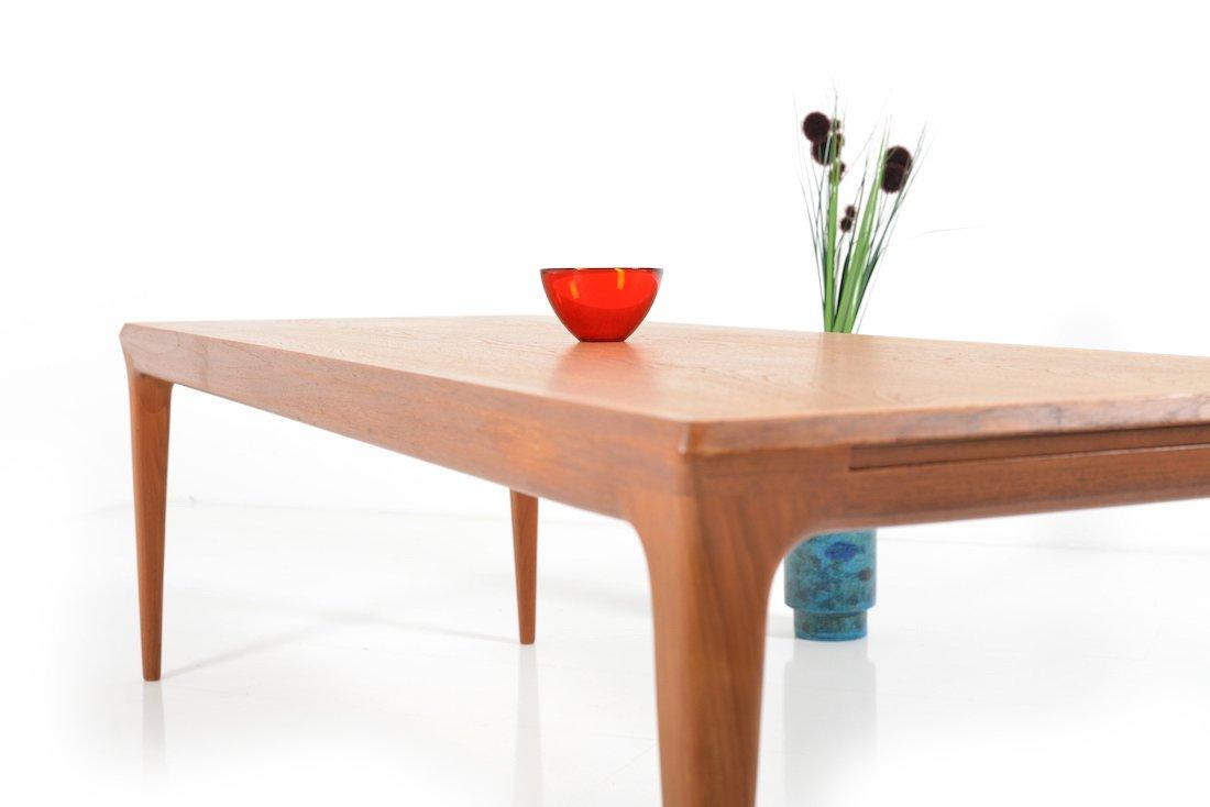 d nischer teak couchtisch mit ablage 1960er bei pamono kaufen. Black Bedroom Furniture Sets. Home Design Ideas