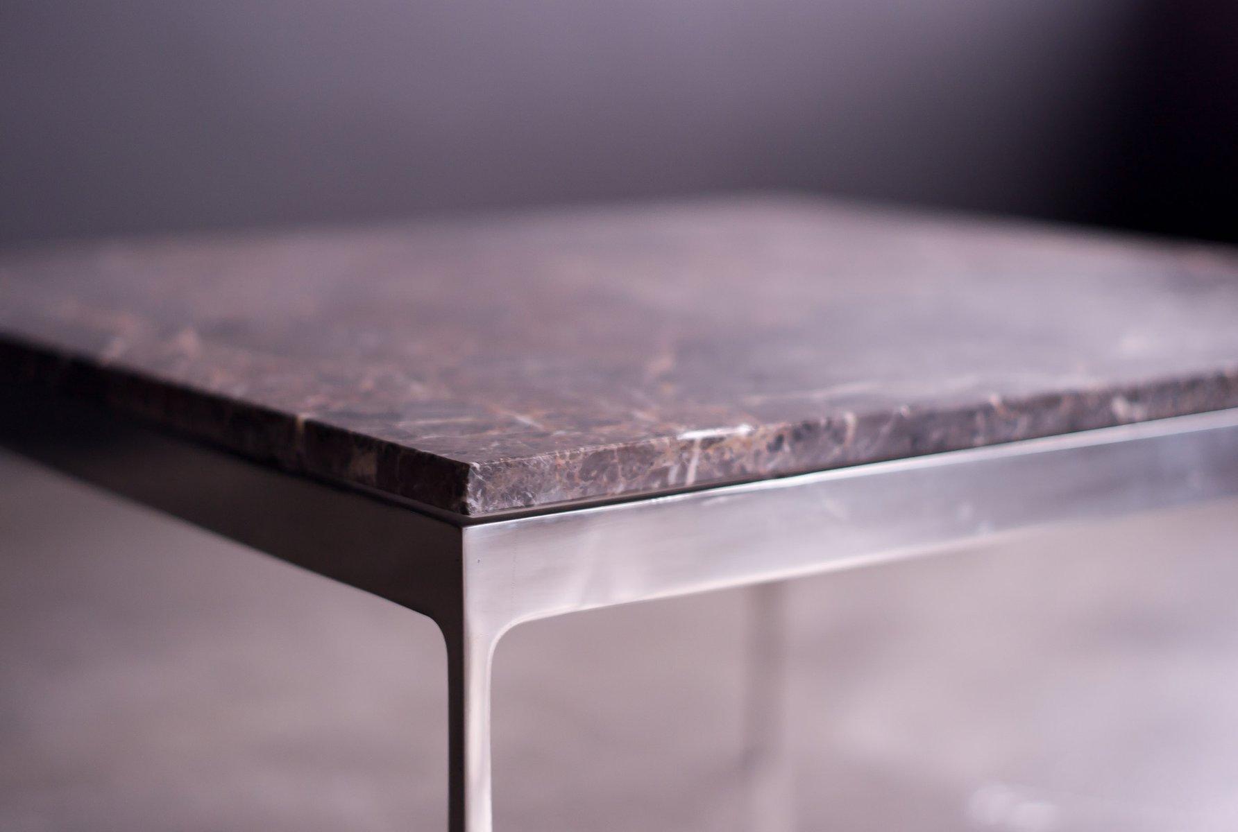 couchtisch mit steinplatte von nicos zographos 1972 bei pamono kaufen. Black Bedroom Furniture Sets. Home Design Ideas