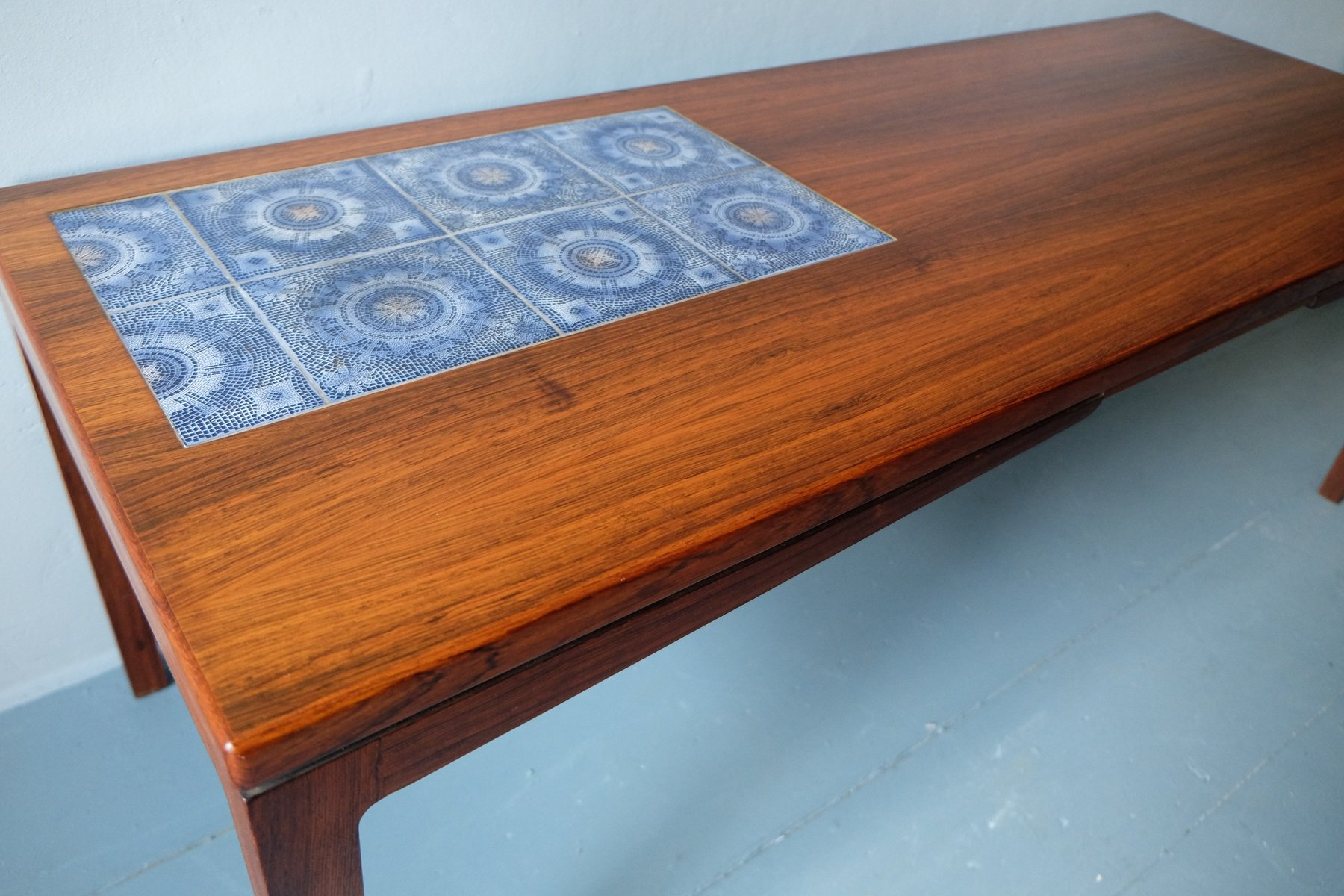 Danish rosewood coffee table with mosaic ceramic tiles 1960s for danish rosewood coffee table with mosaic ceramic tiles 1960s dailygadgetfo Gallery