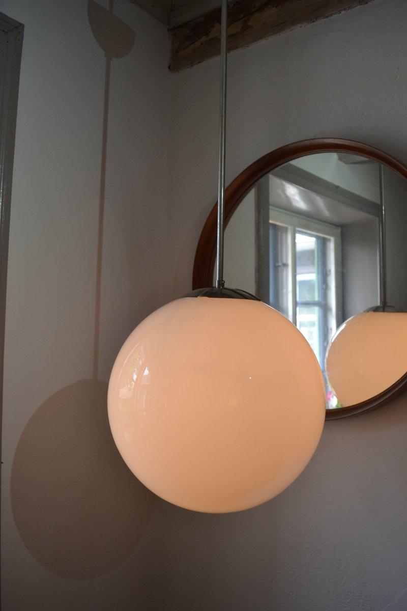 schwedische wei e h ngelampe aus glas von asea 1952 bei pamono kaufen. Black Bedroom Furniture Sets. Home Design Ideas
