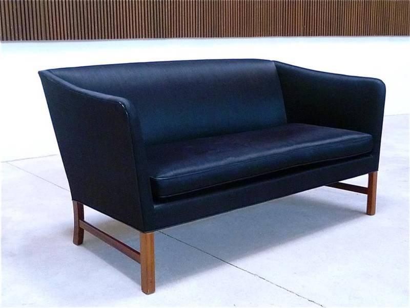 d nisches zwei sitzer sofa von ole wanscher f r a j iversen 1960er bei pamono kaufen. Black Bedroom Furniture Sets. Home Design Ideas