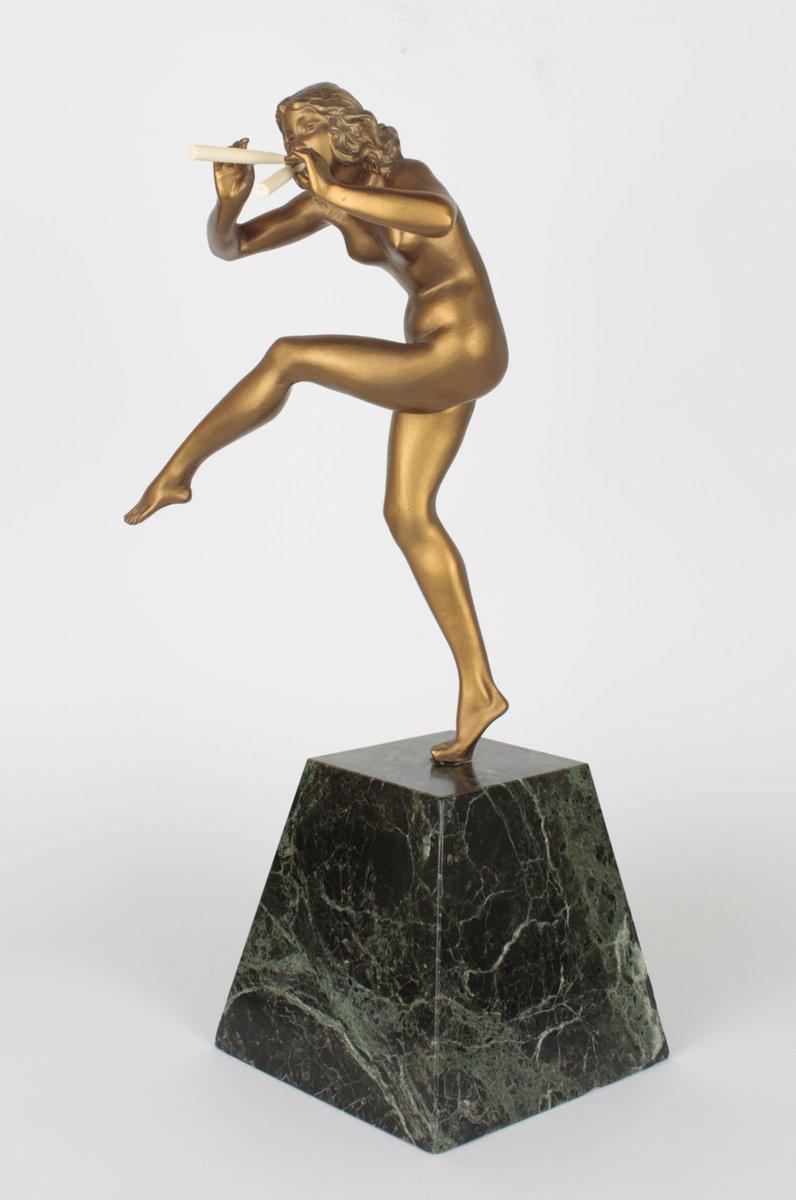 art deco bronze sculpture by pierre le faguays 1925 for. Black Bedroom Furniture Sets. Home Design Ideas