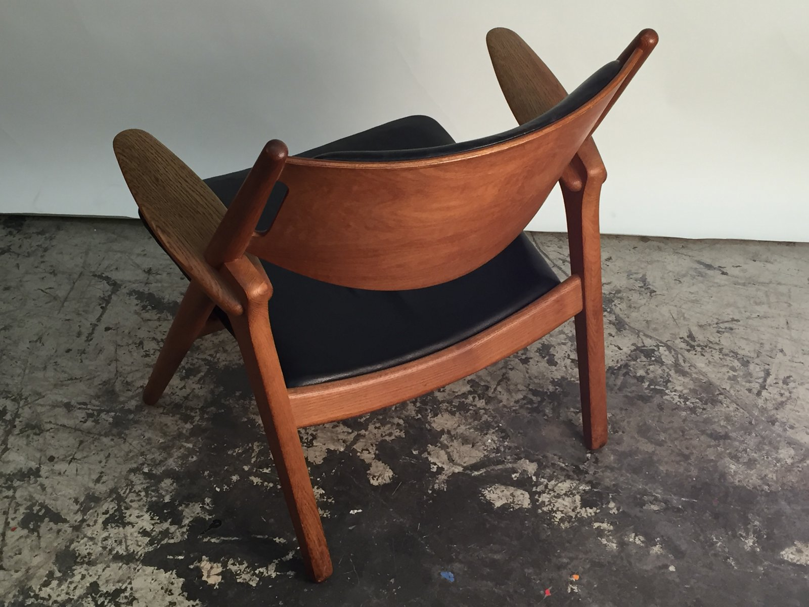 danish ch28 sawhorse chair by hans j wegner for carl hansen son 1950s for sale at pamono. Black Bedroom Furniture Sets. Home Design Ideas