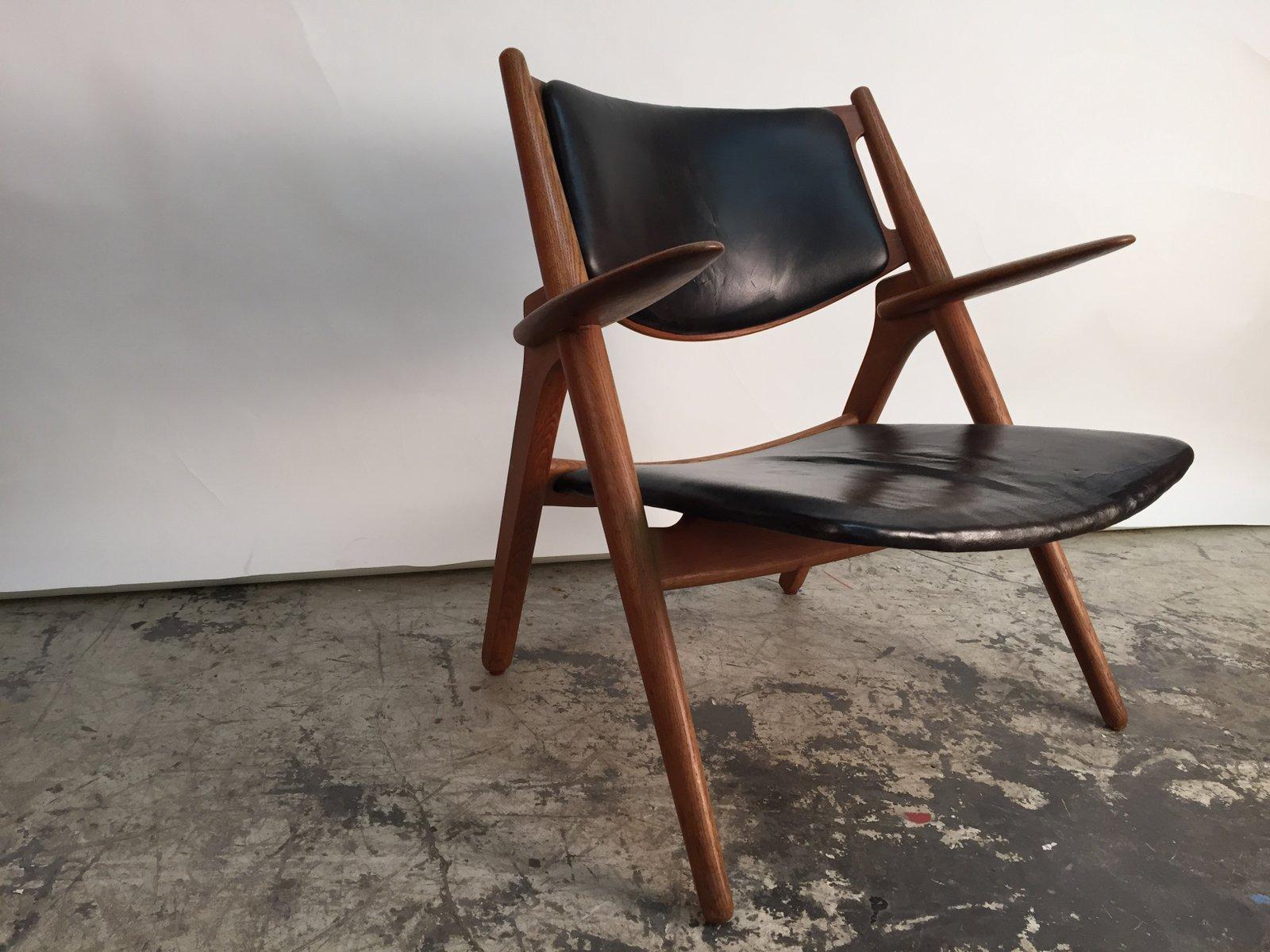 d nischer ch28 sawhorse stuhl von hans j wegner f r carl. Black Bedroom Furniture Sets. Home Design Ideas