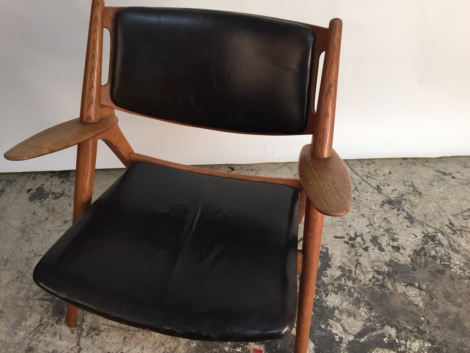 d nischer ch28 s gebock stuhl von hans j wegner f r carl. Black Bedroom Furniture Sets. Home Design Ideas