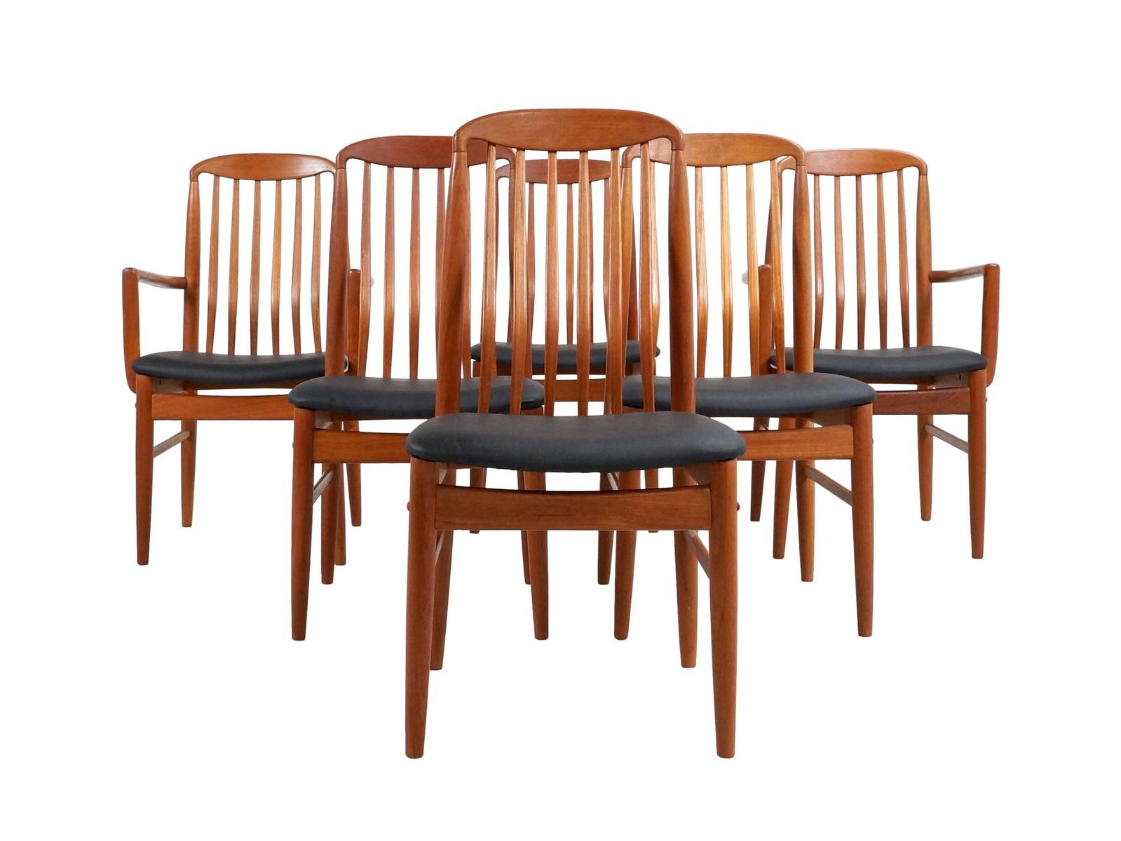 Thai teak dining chairs by benny linden s set of