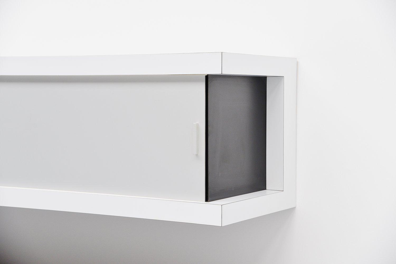 deutsches schwebendes wei es sideboard von horst br ning. Black Bedroom Furniture Sets. Home Design Ideas