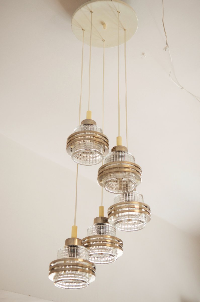 Mid century cascading chandelier 1950s for sale at pamono mid century cascading chandelier 1950s aloadofball Image collections