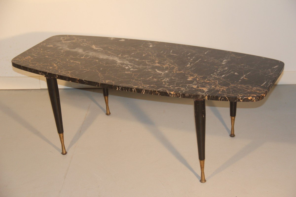 Italian Marble Br Coffee Table 1950