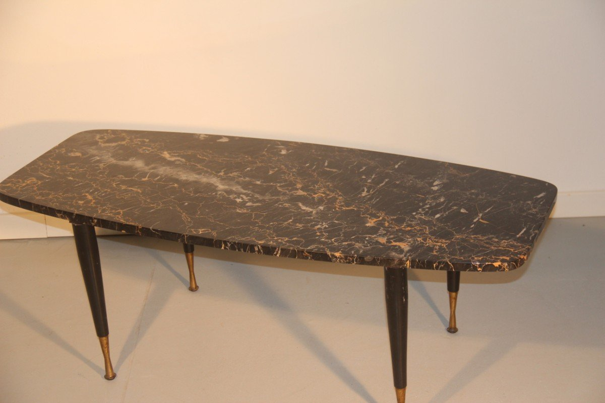 Italian Marble Amp Brass Coffee Table 1950 For Sale At Pamono