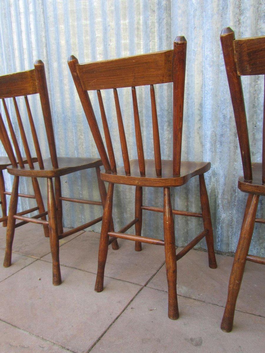 niederl ndische vintage bauernhaus st hle 4er set bei pamono kaufen. Black Bedroom Furniture Sets. Home Design Ideas
