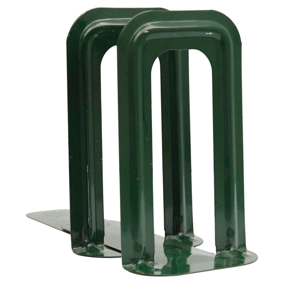 French Bottle Green Bookends by Bernard-Albin Gras for Gras Ravel ...
