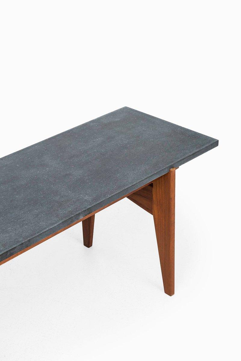 schwedischer couchtisch aus teak schwarzem granit von. Black Bedroom Furniture Sets. Home Design Ideas