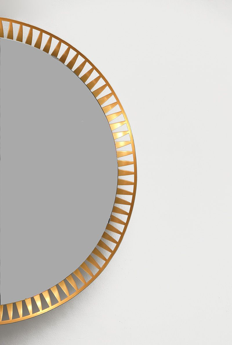 runde beleuchtete spiegel 1960er 2er set bei pamono kaufen. Black Bedroom Furniture Sets. Home Design Ideas