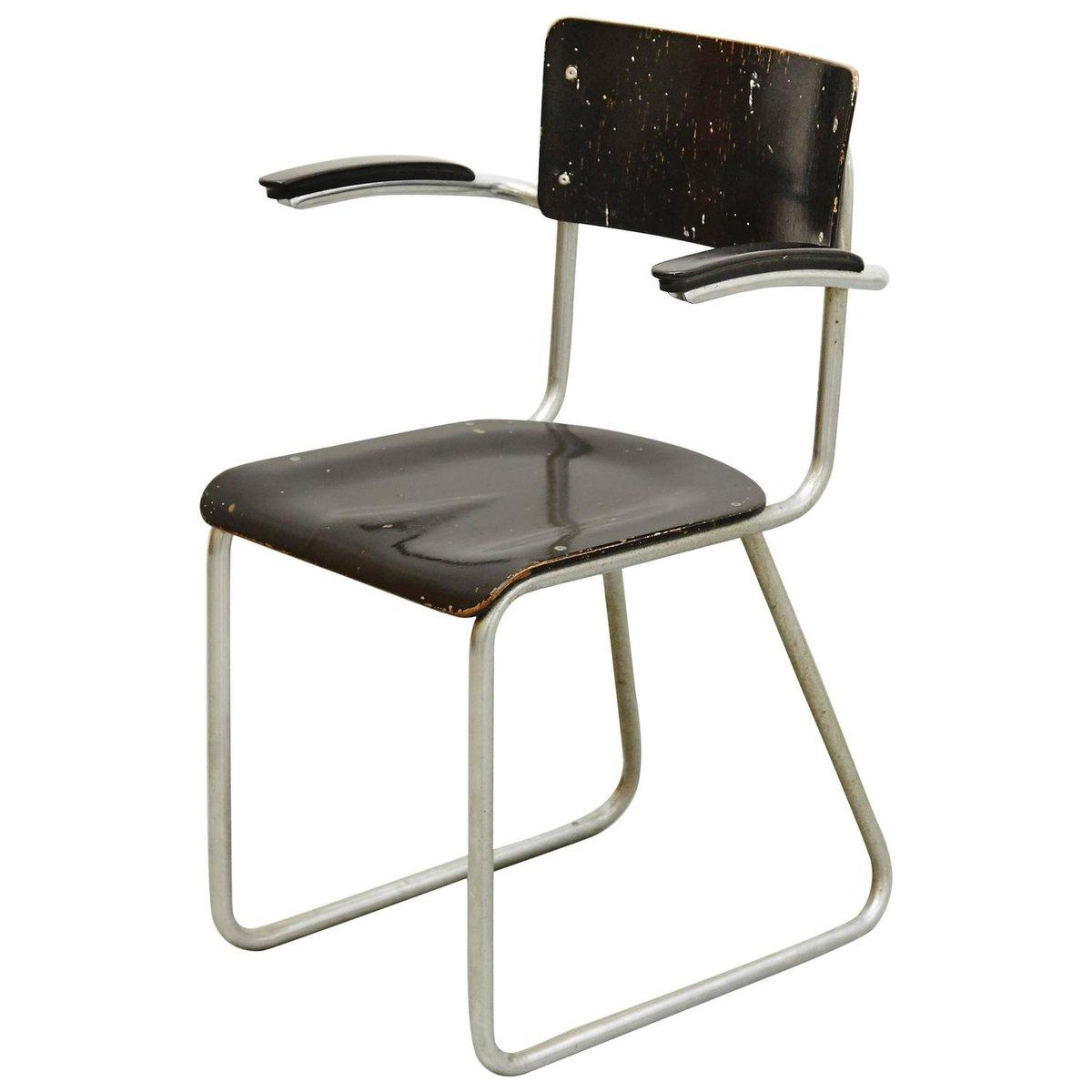 niederl ndischer bauhaus stuhl 1930er bei pamono kaufen. Black Bedroom Furniture Sets. Home Design Ideas