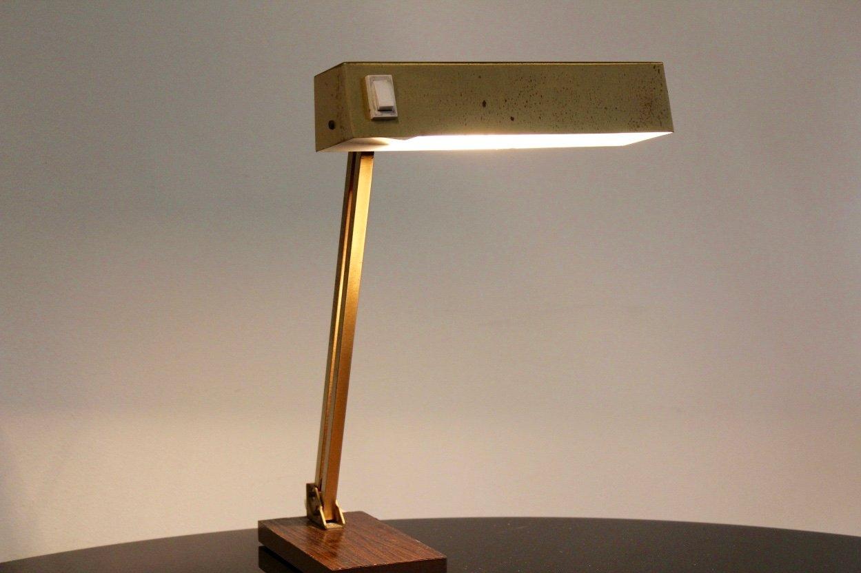 verstellbare deutsche messing tischlampe von pf ffle leuchten 1950er bei pamono kaufen. Black Bedroom Furniture Sets. Home Design Ideas