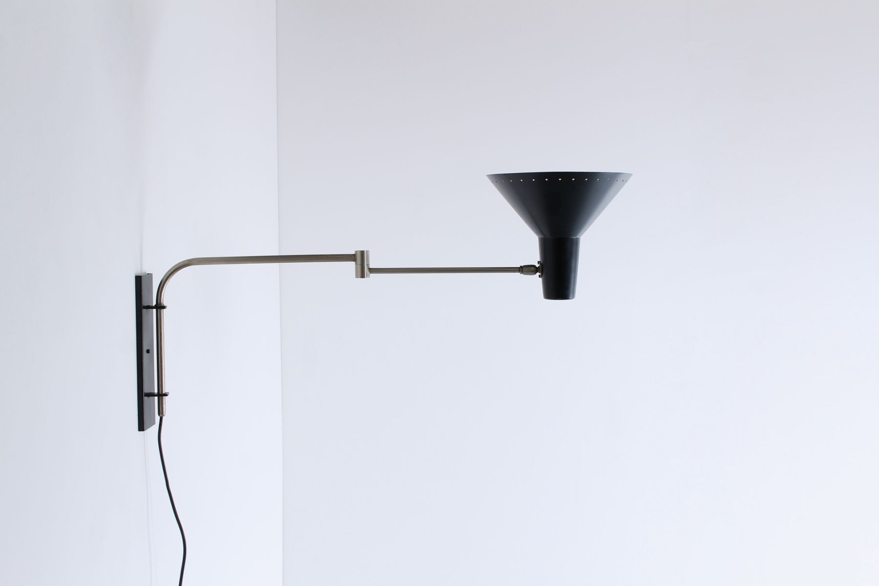 wall mounted swinging arm industrial light from artimeta. Black Bedroom Furniture Sets. Home Design Ideas