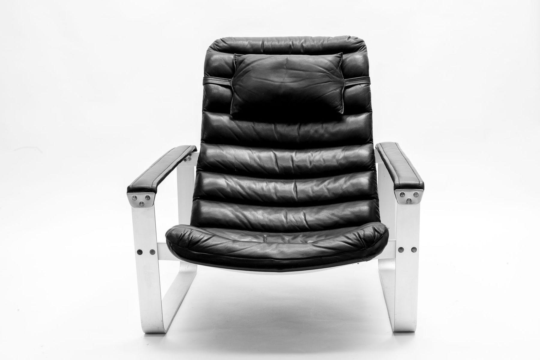 finnischer pulkka sessel mit fu hocker von ilmari lappalainen f r asko 1968 bei pamono kaufen. Black Bedroom Furniture Sets. Home Design Ideas