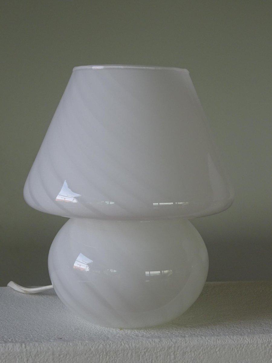 mid century murano glas lampe mit wirbelmuster bei pamono. Black Bedroom Furniture Sets. Home Design Ideas
