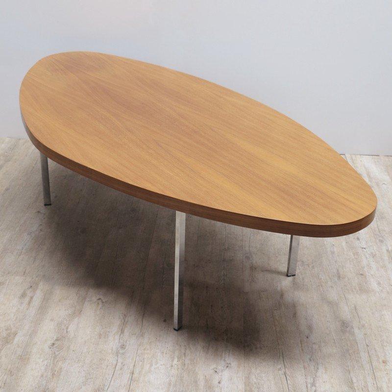 ovaler vintage couchtisch bei pamono kaufen. Black Bedroom Furniture Sets. Home Design Ideas