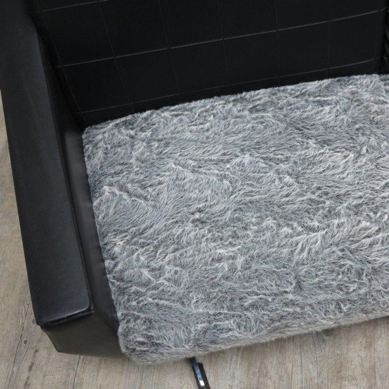 rundes vintage ledersofa bei pamono kaufen. Black Bedroom Furniture Sets. Home Design Ideas