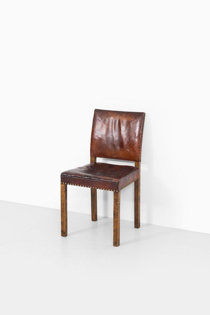 art deco stuhl mit lederbezug bei pamono kaufen. Black Bedroom Furniture Sets. Home Design Ideas