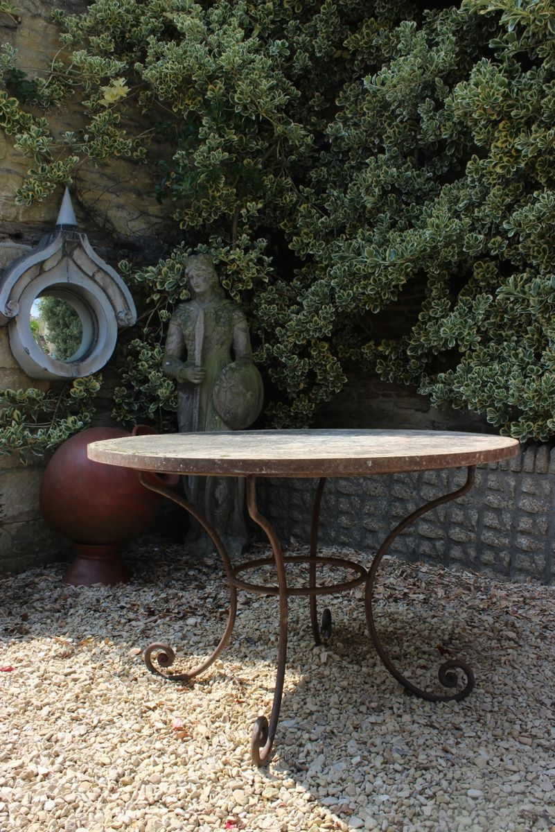 Table de jardin vintage en terracotta en vente sur pamono for Vente table de jardin