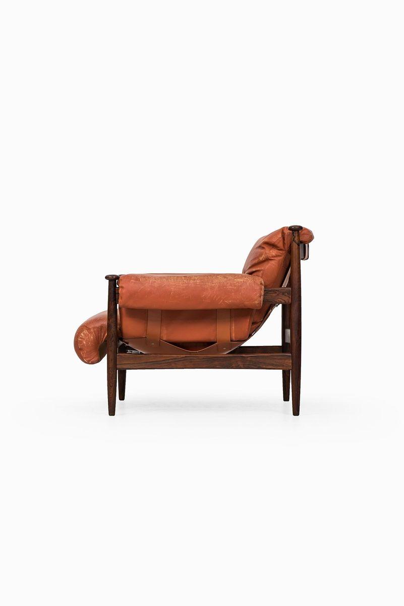 mid century sessel mit fu hocker von eric merthen 3er set bei pamono kaufen. Black Bedroom Furniture Sets. Home Design Ideas