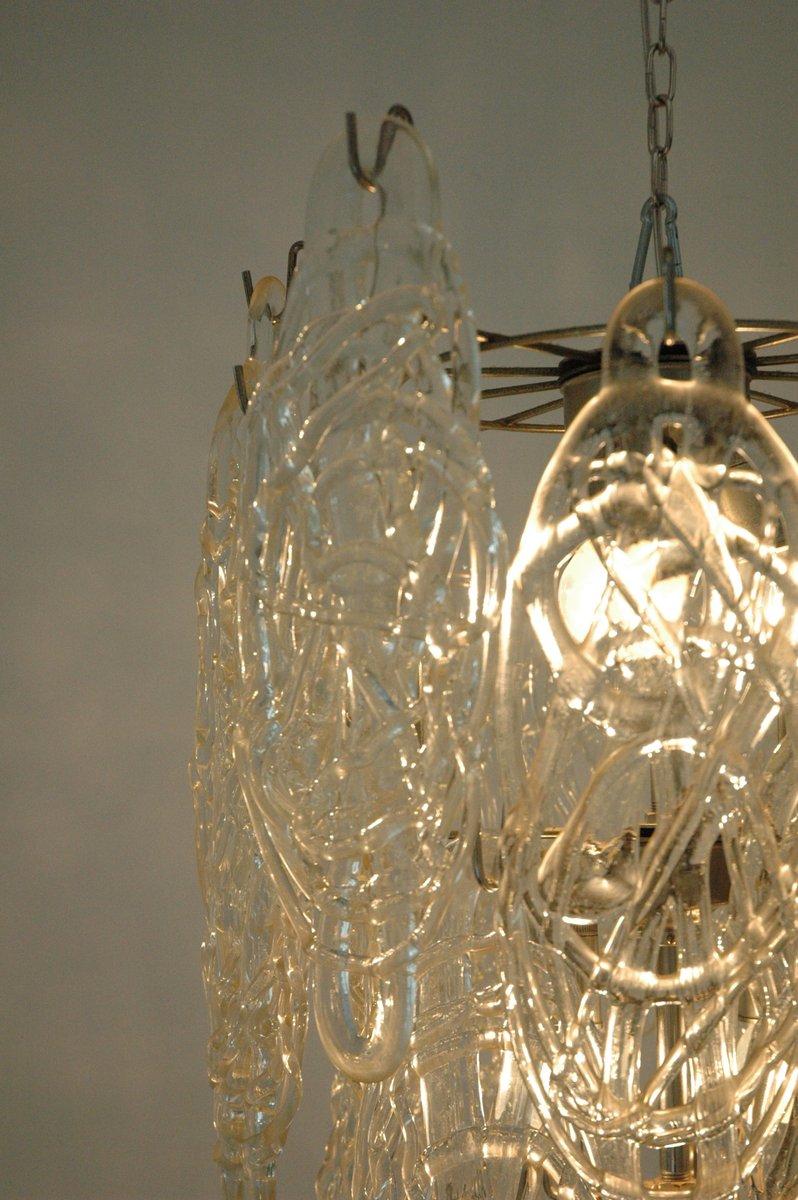 italienischer zuckerwatte kronleuchter aus murano glas von mazzega 1970er bei pamono kaufen. Black Bedroom Furniture Sets. Home Design Ideas
