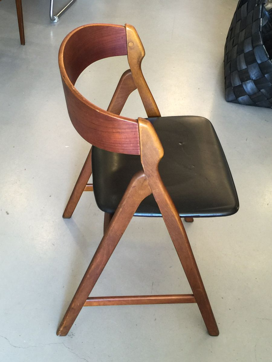 d nischer modell 71 stuhl aus teakholz von henning kjaernulf 1950er bei pamono kaufen. Black Bedroom Furniture Sets. Home Design Ideas
