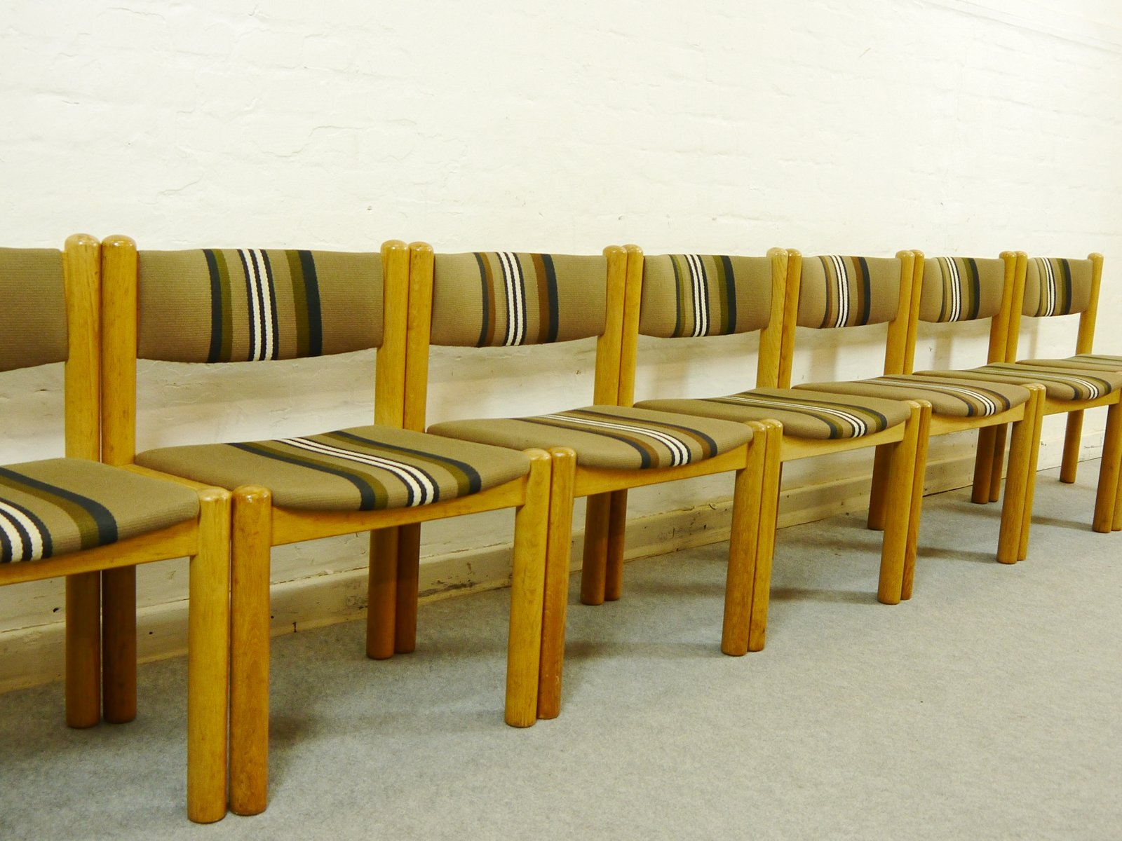 Vintage Scandinavian Dining Chairs Set Of 8