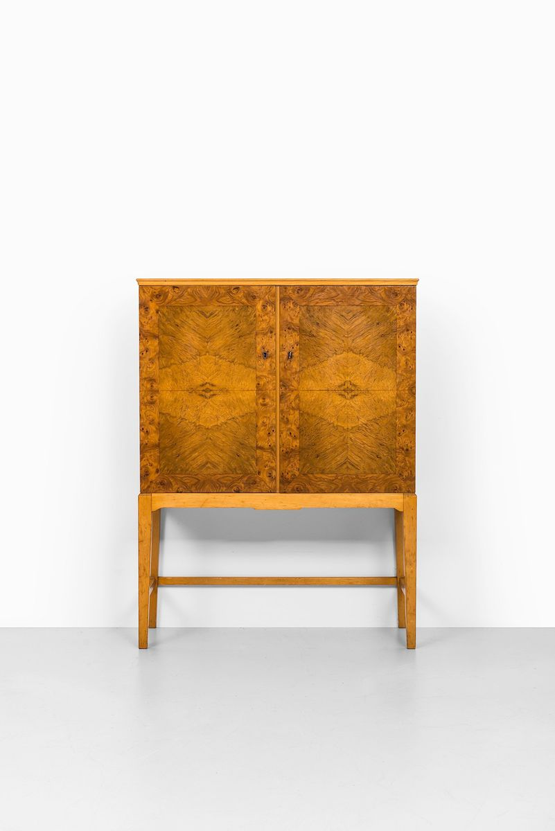 Perfect Finnish Mid Century Burlwood Cabinet