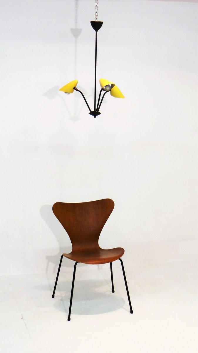 italienischer vintage metall kronleuchter von stilnovo bei. Black Bedroom Furniture Sets. Home Design Ideas