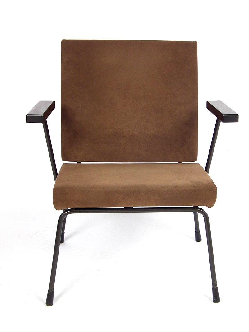 brauner vintage sessel von wim rietveld f r gispen bei pamono kaufen. Black Bedroom Furniture Sets. Home Design Ideas