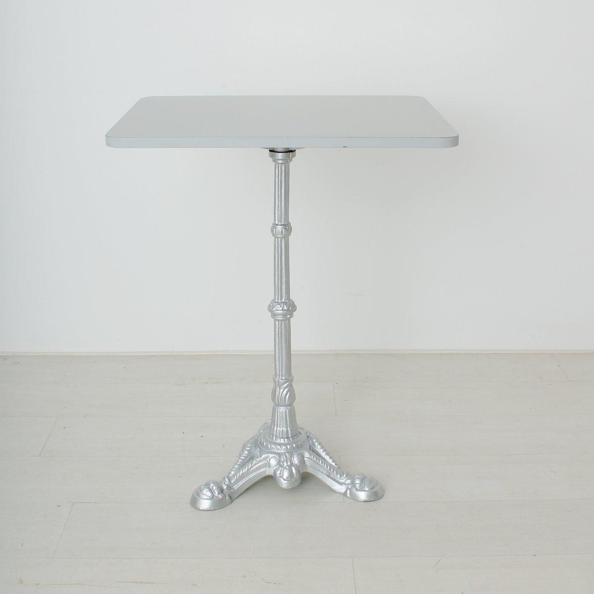silber grau lackierter vintage beistelltisch aus metall. Black Bedroom Furniture Sets. Home Design Ideas