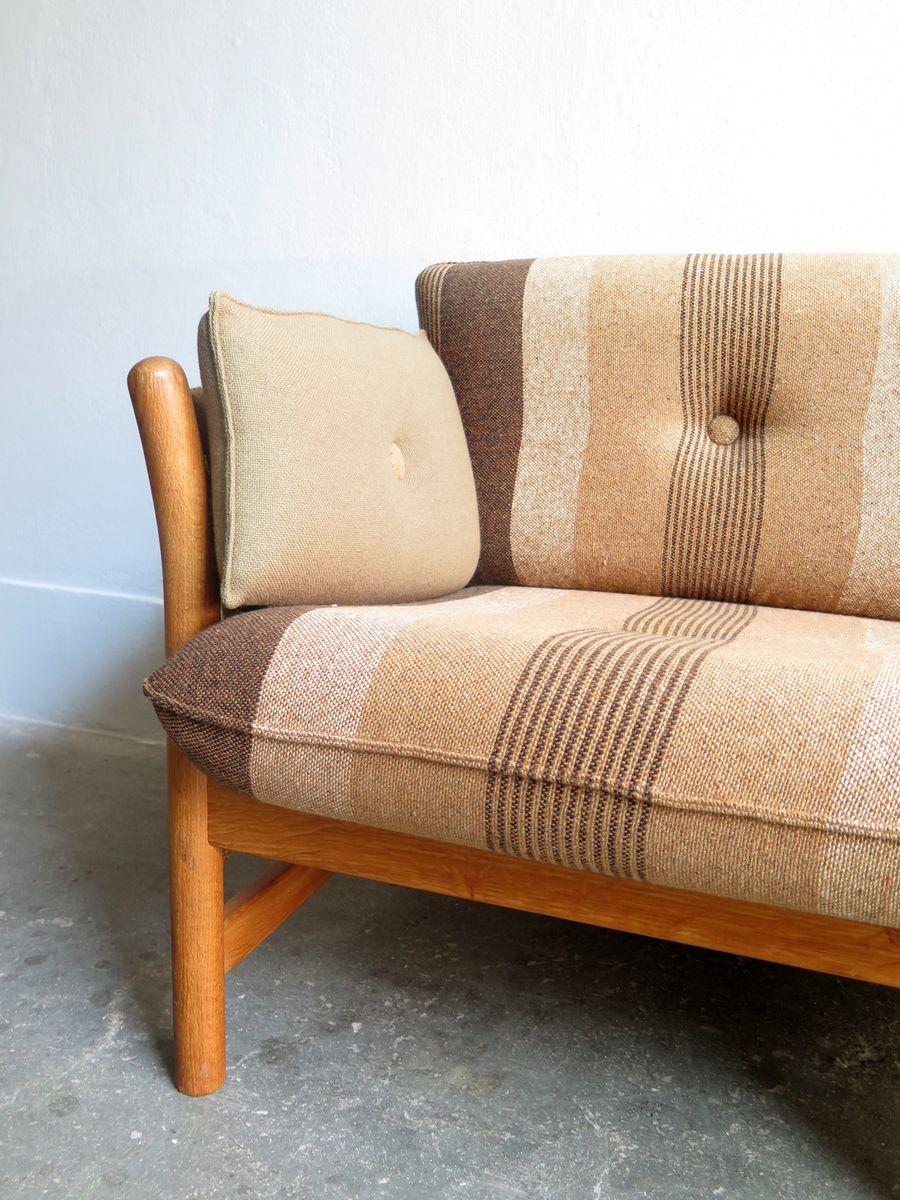 vintage 2 sitzer sofa aus eichenholz von arne norell bei pamono kaufen. Black Bedroom Furniture Sets. Home Design Ideas