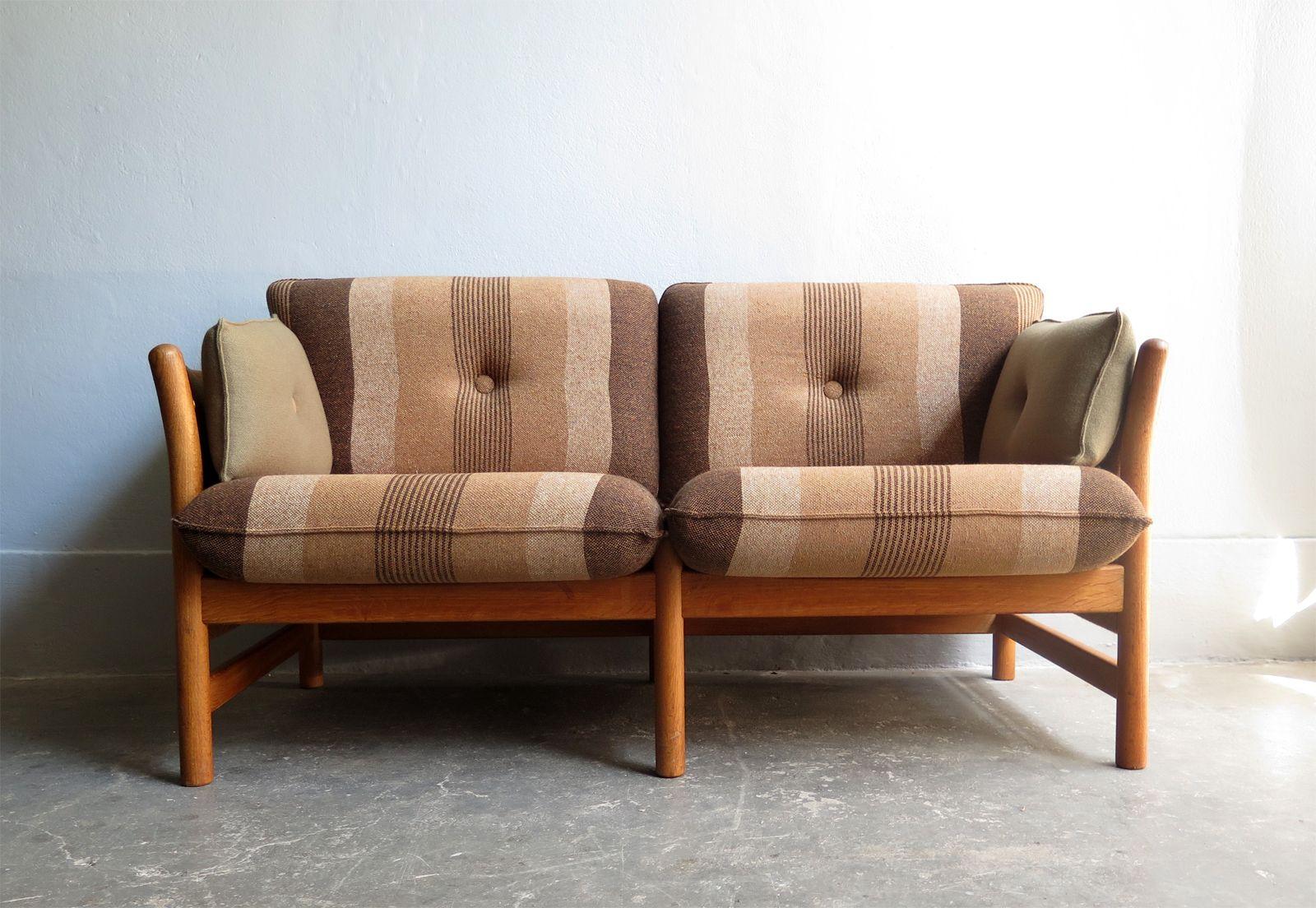 vintage 2 sitzer sofa aus eichenholz von arne norell bei. Black Bedroom Furniture Sets. Home Design Ideas