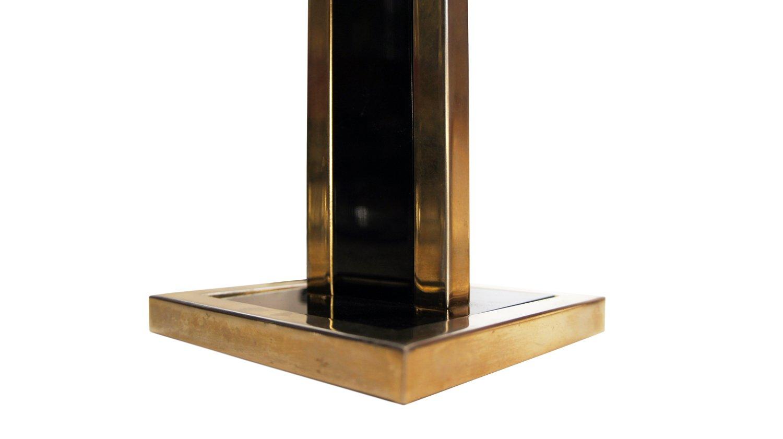 Lampade da tavolo vintage in metallo nero e ottone set di for Lampade piccole da tavolo