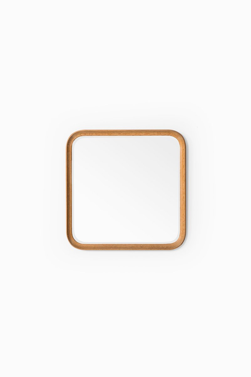 vintage spiegel mit abgerundeten ecken und eichenholzrahmen von fr seke ab nybrofabriken bei. Black Bedroom Furniture Sets. Home Design Ideas