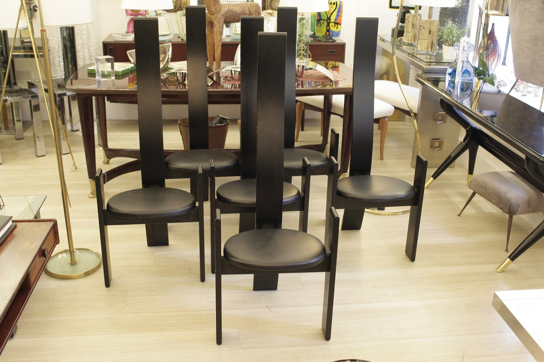 italienische golem st hle von vico magistretti 6er set bei pamono kaufen. Black Bedroom Furniture Sets. Home Design Ideas