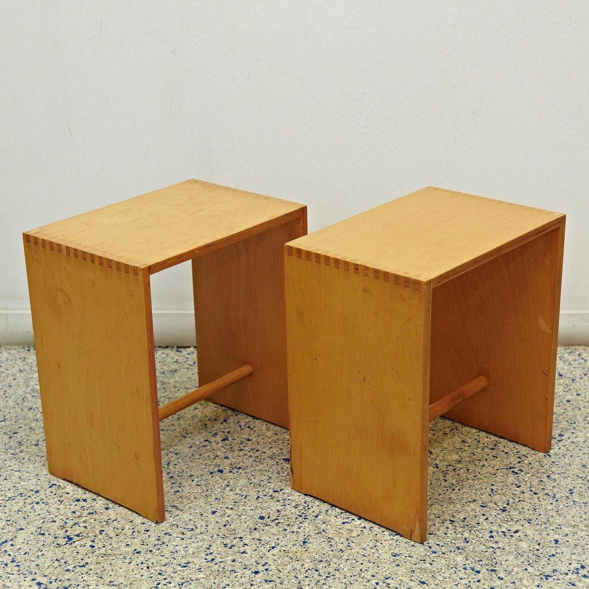 sgabillo hocker aus holz von max bill f r zanotta bei pamono kaufen. Black Bedroom Furniture Sets. Home Design Ideas