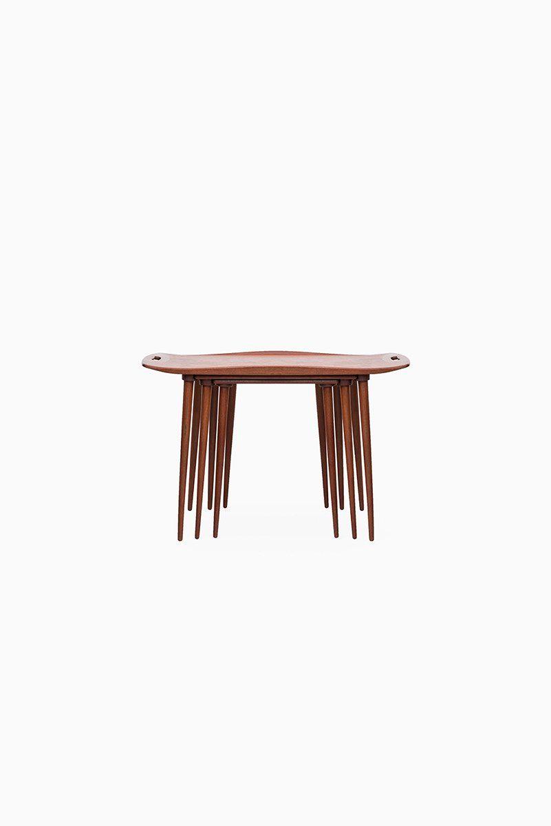 Danish Nesting Tables By Jens Quistgaard For Nissen, 1964