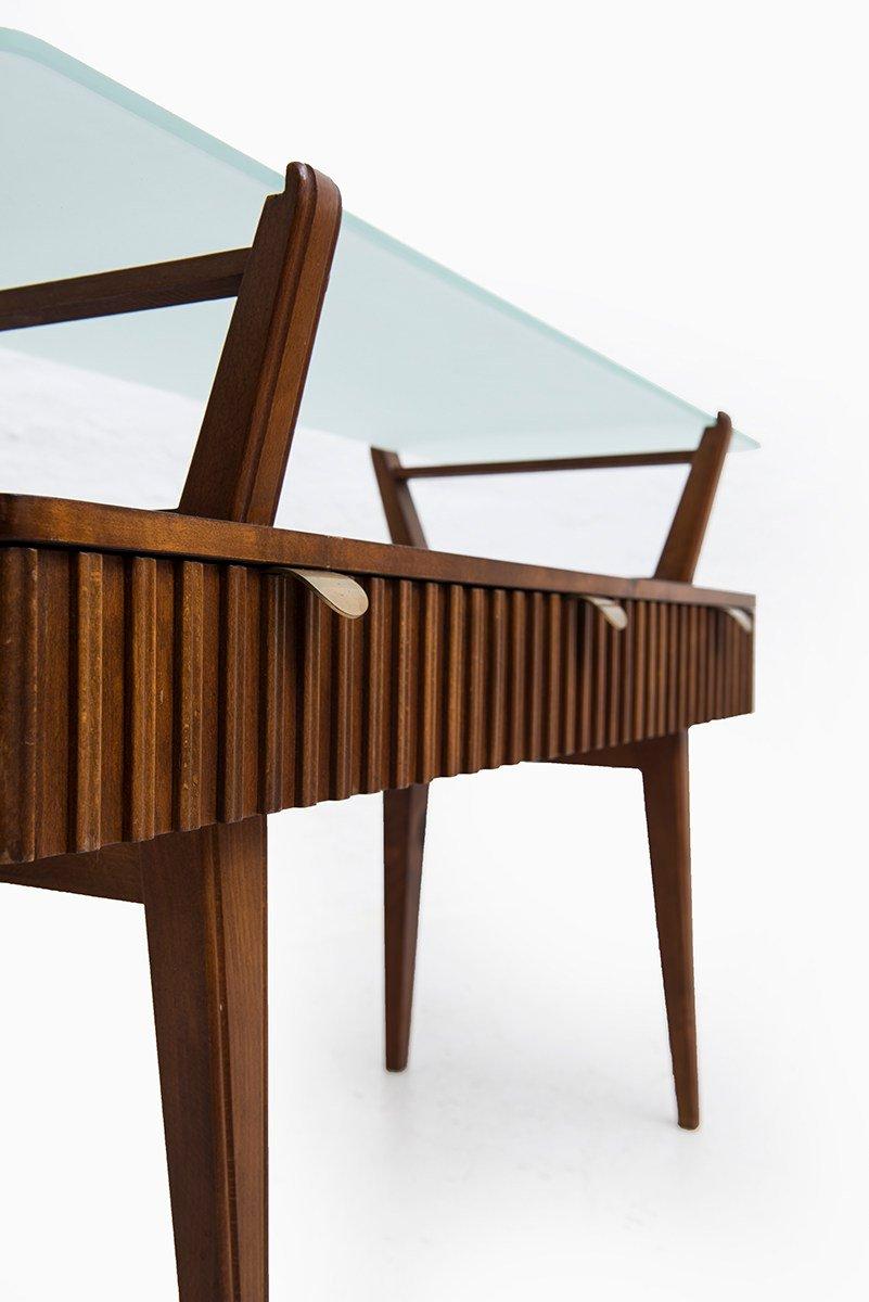 schwedischer konsolentisch aus birkenholz messing glas 1940er bei pamono kaufen. Black Bedroom Furniture Sets. Home Design Ideas