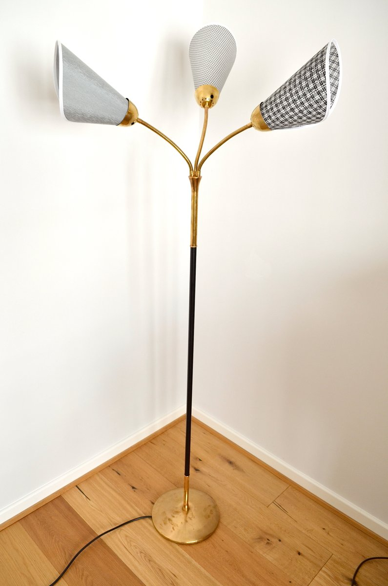 Mid Century German Floor Lamp With Adjustable Arms, 1950s