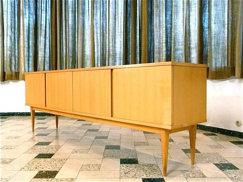 gro es deutsches sideboard von wk m bel 1960er bei pamono kaufen. Black Bedroom Furniture Sets. Home Design Ideas