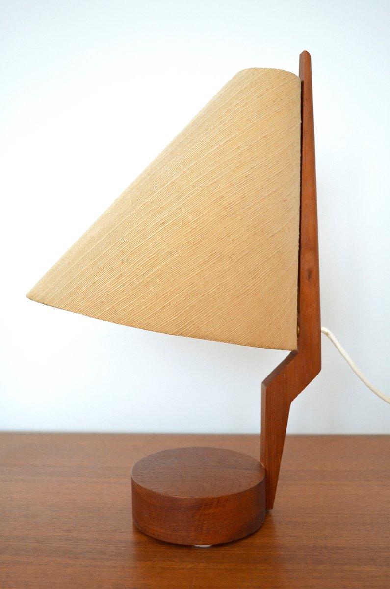 Mid century scandinavian teak table lamp 1960s for sale at pamono mid century scandinavian teak table lamp 1960s aloadofball Images