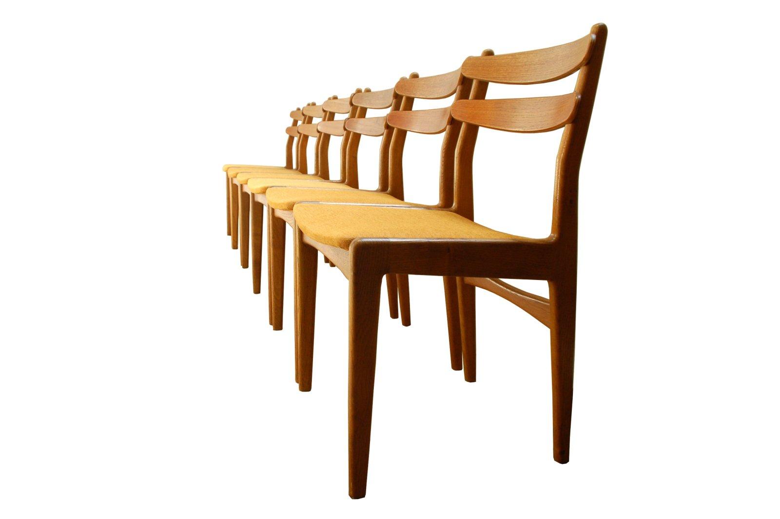 d nische teak esszimmerst hle 6er set bei pamono kaufen. Black Bedroom Furniture Sets. Home Design Ideas