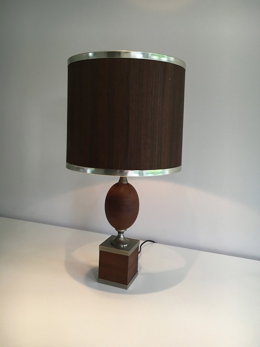 Wood and steel egg table lamp for sale at pamono wood and steel egg table lamp aloadofball Images